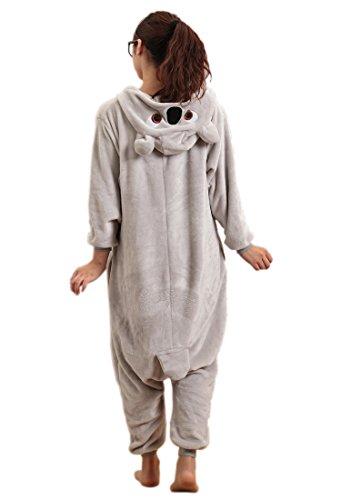 Imagen de lihao pijama disfraz de koala gris para adulto unisex, cosplay, halloween talla m  alternativa