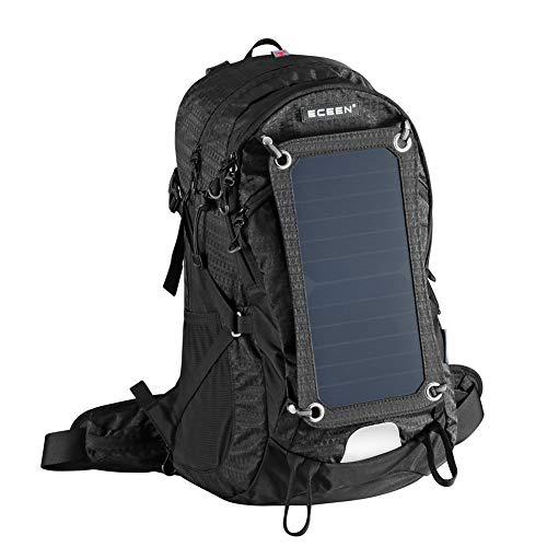 Bolsa de alpinismo solar con paneles solares de 6.5 vatios  Material de la bolsa: 55% nylon, 45% poliéster  Tamaño de la bolsa: 58 * 34 * 15 cm  Capacidad de la bolsa: 45L  Marca de panel solar: importado US Sunpower  Energía del panel solar : 6.5W, ...