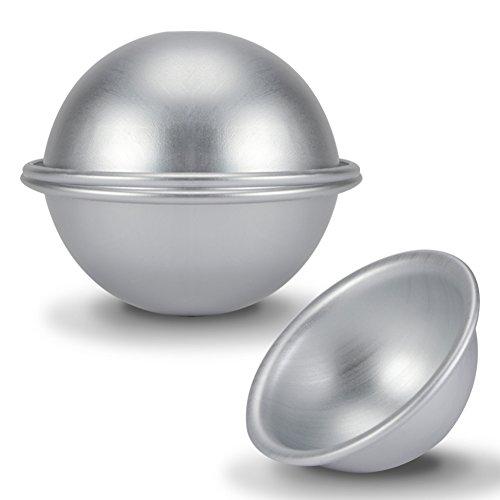 Fdit 9cm Halbkugel Kuchenform Aluminium Hemisphäre Kuchen Pfanne Bikini Kuchen Nachtisch Pudding Backform H008 4 Stücke