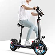 QW Black Electric Scooter Adults,USB Charger,Adjustable,55KM Long-Range,500w Motor,E-Scooter with LCD-display,