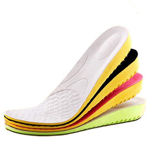 Boowhol Erhöhen Einlegesohle 1.5-3.5cm, Fersensporn Deo-Einlegesohle Atmungsaktiv Fersenkapp Ferse -Schutz Einlegesohlen Unsichtbare Erhöhung Pad (S(Erhöhen 1.5cm))