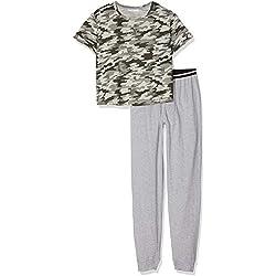 New Look 915 Girl's 5943392 Pyjama Sets, Green (Camouflage / Grey), Medium (Size:103)
