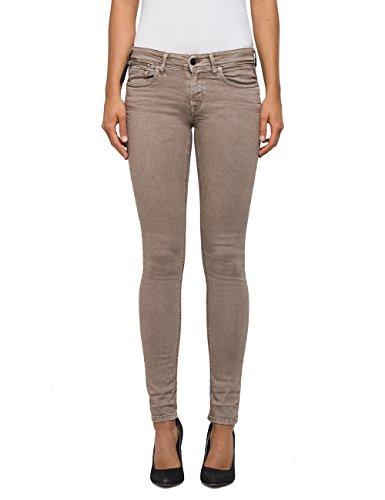 Replay Damen Skinny Jeans LUZ Coin Zip Braun (Nut 60) W28/L30 (Herstellergröße: 28)