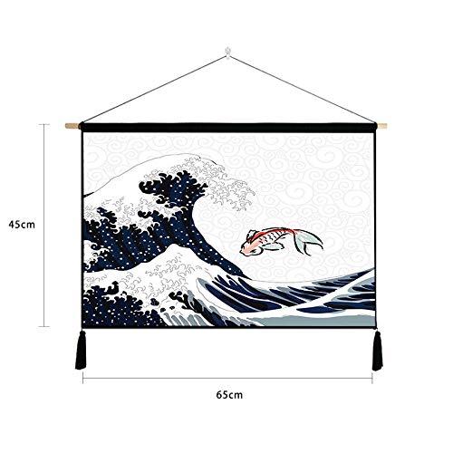 Einfache Japanische und Wind malerei Schlafzimmer Baumwolle leinen Kunst malerei Tapisserie dekorative malerei K 65 * 45 cm