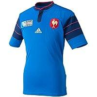 Adidas FFR RWC H JSY - Camiseta para Hombre, Color Azul/Azul Marino/Rojo, Talla L