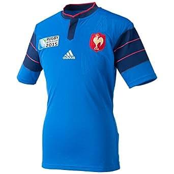 France RWC 2015 - Maillot de Rugby Réplique à Domicile - Bleu/Bleu Foncé - taille XS