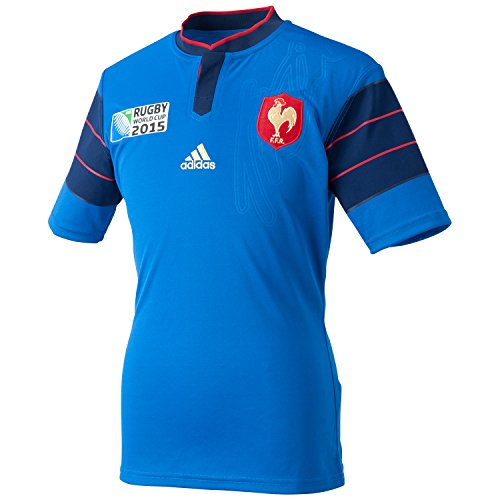 adidas - Trikots - France Rugby World Cup 2015 Heimtrikot - Blue - S (Climacool-rugby)