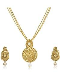 Atasi International Jewellery Set for Women (Golden)(AG1798)