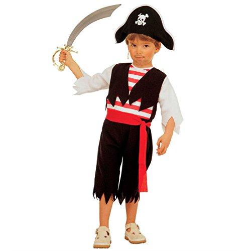 Karibik Kind Junge Kostüm Pirat - Kleiner Pirat Kostüm Kinder Piratenkostüm XS 110 cm 3-4 Jahre Piraten Faschingskostüm Fasching Freibeuter Seeräuber Karnevalskostüm Piratenparty Kinderkostüm Karibik Mottoparty Verkleidung Jungen