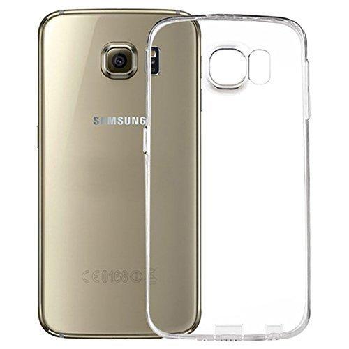 Galleria fotografica LONVIPI Custodia Cover Samsung Galaxy S6 Con PROTEZIONE FOTOCAMERA Custodia Clear Trasparente Ultra Sottile Silicone Gel Tpu Morbida smartphone SAMSUNG Galaxy S6 - LONVIPI