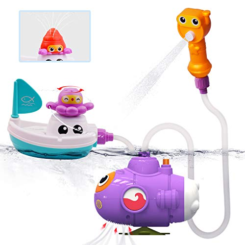 GizmoVine Baby Bath Toys Set,Baby Bath Time game toys Octopus with Submarine Boat & Baby Shower and Water Toys