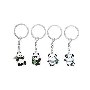 Panda linda llaveros (Paquete de 5) - Exclusivo metal Llavero Diseño de la Express Panda® de EXP