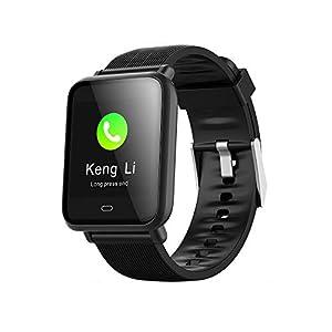 Jersh Smart Electronic Watch,Calorie Blood Pressure Exercise Heart Rate Pedometer Smart Watch Application Push Pedometer Calorie Counter Bluetooth Smart Bracelet