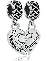 uniqueen Mother Daughter Motif nœud celtique vente Lot de charms pour bracelets de type Pandora/Troll/Chamilia Bracelet