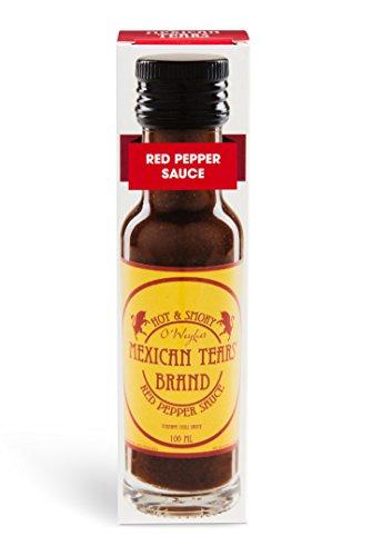 Mexican Tears® - Red Pepper Sauce, scharfe Sauce aus Chili & Meersalz, perfekt als Grill-Zubehör für BBQ Sauce, Pulled Pork & zum Aufpeppen von Spareribs [100ml Chilisauce] (Bbq-sauce-pulver)