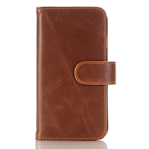 Premium-Qualität Brieftasche Fall Deckung, Kickstand Case Folio Tasche für Apple iPhone 7 ( Color : 4 , Size : IPhone 7 ) (Outter Iphone 4 Fälle)