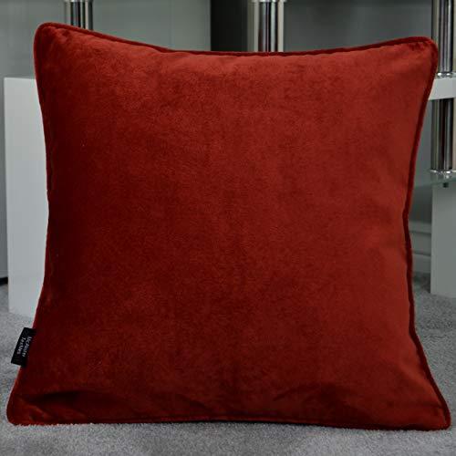 Rost-akzenten (McAlister Textiles Matter Samt | Kissenbezug für Sofakissen in Rost Orange | 65 x 65cm | griffester Samt edel paspeliert | in 25 Farben erhältlich | Kissenhülle für Samtkissen)