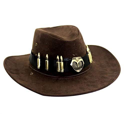 Yasminey Cowboy Hut Country Cowboy Hut Cowboy Hut Herren Western Breiter Chic Kleidung K (Country Western Kostüm)