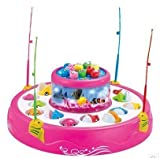 #8: spincart™ GoGo Fishing Rotating Magnatic Fishing Game With Lights And Music, 26 Fishes And 4 Rods