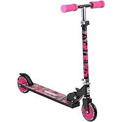 Bopster Trottinette 2 Roues Pliables Rose Camouflage