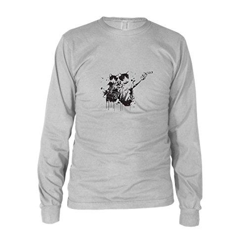 Walking Cats - Herren Langarm T-Shirt, Größe: XXL, Farbe: weiß (Pc Für Walking Dead 2 Season)