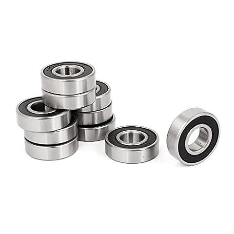 Double Caoutchouc Joints 6001-RS 6001RS Roulement À Bille 12x28x8mm 10 Pièces
