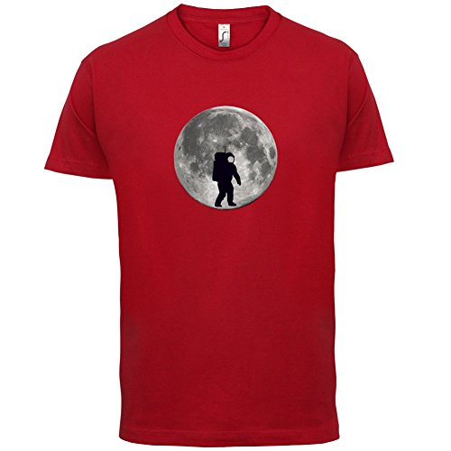 Astronaut On The Moon - Herren T-Shirt - 13 Farben Rot
