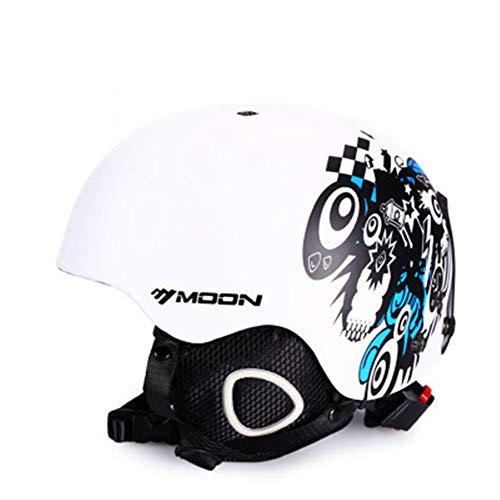 Gski Männer Oder Frauen Skihelm Ultraleicht Skihelm CE Zertifizierung ABS + EPS Snow Skateboard Ski Snowboard Helm,1,M