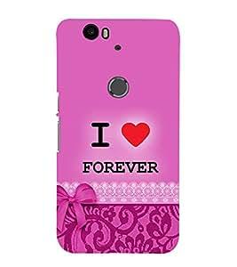 Fiobs Designer Back Case Cover for Huawei Nexus 6P :: Huawei Google Nexus 6P (Love Dots Lovely Beautiful Pink)