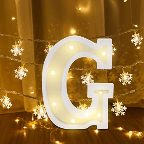 FeiliandaJJ A~Z Brief Nachtlicht Batterie Romantisch LED Licht Nachtlampe LED Dekoration für Heiratsantrag Volkstrauertag Schlafzimmer Party Haus Dekor Nachtleuchte (G)