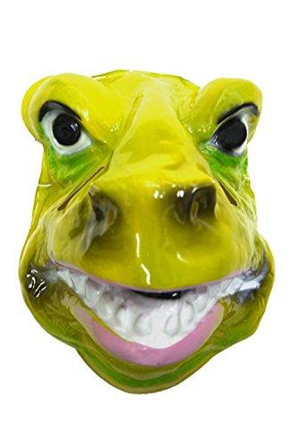 Máscara de dinosaurio rex plástico rígido