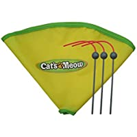 """Msun Replacement Spare Wand and 23"""" Nylon Skirt for Cat's Meow Cat Toy"""