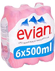 Evian Still Natural Mineral Water, 6 x 50 cL