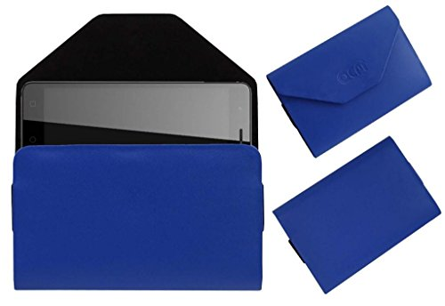 Acm Premium Pouch Case For Micromax Canvas Amaze 4g Q491 Flip Flap Cover Holder Blue  available at amazon for Rs.179