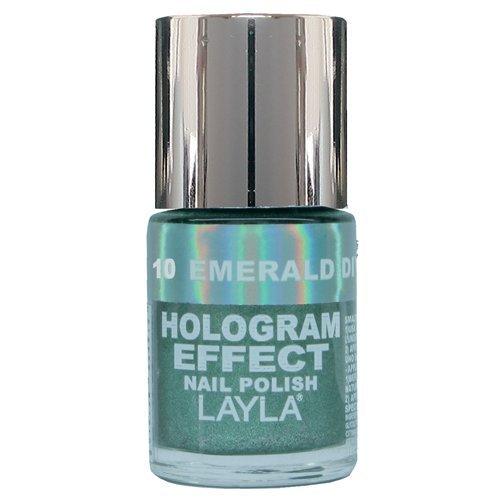 Layla Hologramm Effekt (Layla Cosmetics Hologram Effect Nagellack - emerald divine, 1er pack (1 x 0.01 l))