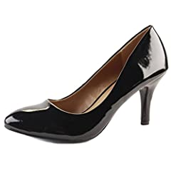 0a1e972c8e22 WOMENS LADIES LOW MID HIGH KITTEN HEEL PUMPS POINTED TOE WORK COURT ...