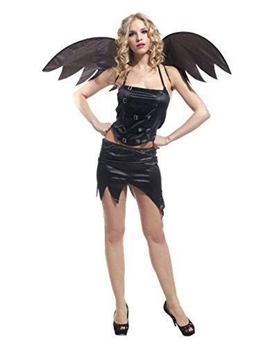 Erwachsenen Kostüm Sexy Dark Fairy Angel, Skull Kostüm Hexe, Fledermaus-Party, (Fancy Dress Fairy Dark Kostüme)
