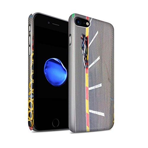 STUFF4 Glanz Snap-On Hülle / Case für Apple iPhone 8 / Start Ampel Muster / Rennstrecke Foto Kollektion Rennauto