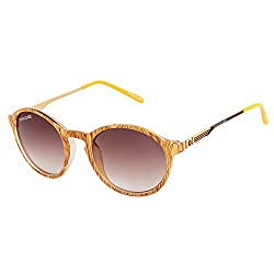 Danny Daze UV Protected Round Women Sunglasses (D-2530-C6|51MM|Brown)
