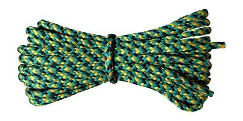 Cordones botas - redondos 4 mm -jade amarillo negro