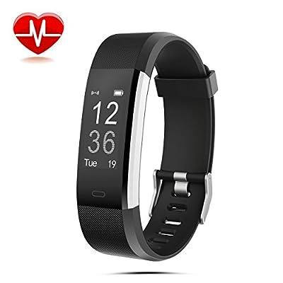 Fitness Armbanduhr LASUAVY Fitness Tracker mit Herzfrequenz Monitor/Schrittzähler/Anrufbenachrichtigungen/Ruhemodus/Kamerabedienung - Smart Watch Wasserdichter Fitness Armband Fitness Armbänder mit Pulsmesser für Android IOS von LASUAVY