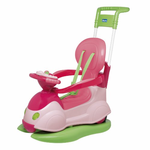 Imagen principal de Chicco 67068100000 Quattro Girl - Correpasillos convertible en balancín, color rosa