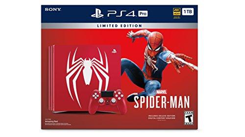 Sony PlayStation 4 Pro 1TB Limited Edition Konsole - Marvels Spider-Man Bundle [Nicht mehr] (Spiele Psp Marvel)