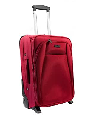 """Cabin Max Red Executive Trolley Flight Approved Expandable Hand Luggage 20"""" high, 41l case"""