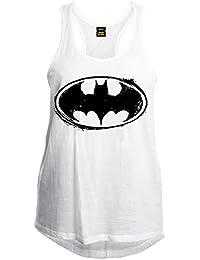 Batman - Débardeur - Sans Manche - Femme Blanc blanc