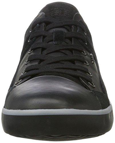 Geox U Smart A, Herren Low-Top Sneaker Schwarz (Black)