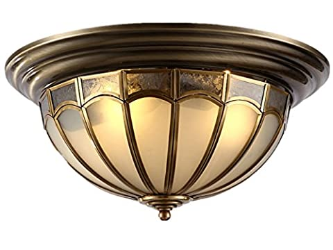 Copper Lamp Ceiling Lamp for Living Room Bedroom Kitchen Diameter 45CM 25W Retro Style[Energy Class A++]