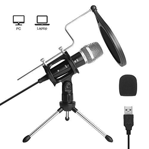 Microfono USB, Microfono Computer di registrazione ARCHEER Microfoni PC per laptop MAC o Windows, Microfono professionale a condensatore per streaming YouTube Registrazione di giochi Voice over