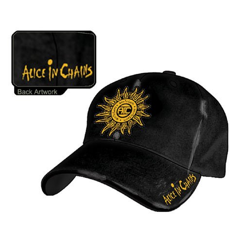Alice In Chains - Distres Black Baseball Cap (Baseball Alice)