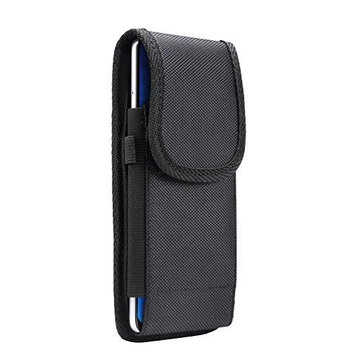 Oxford nylon stoff elastische männer telefon gürteltasche mit kartensteckplatz hängen hülse outdoor sport abdeckung fit 4,7-6,9